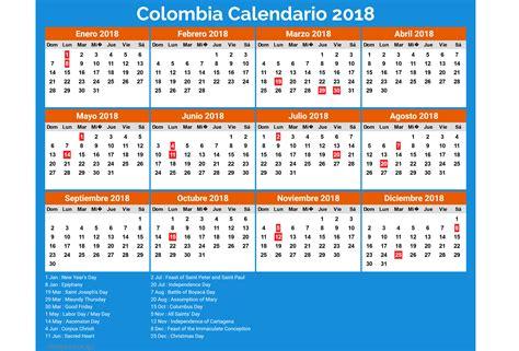 Calendario 2018 De Colombia Colombia Calendario 2018 5 Newspictures Xyz