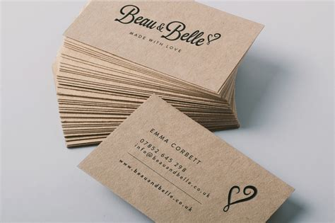 printable kraft paper business cards brown kraft board business cards face media group