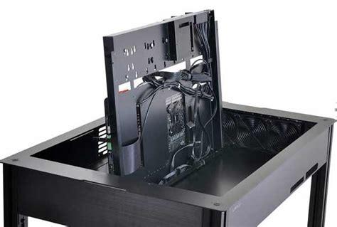 pc im schreibtisch einbauen computer in den tisch einbauen dreibeinblog
