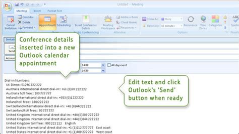 Calendar Invite Outlook Bt Meetme Add In For Outlook Support User Guides Bt