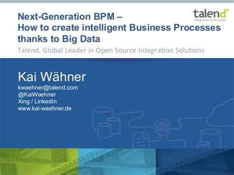 how to create your next how to create intelligent business processes thanks to big data bpm