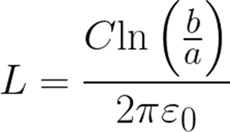 cylindrical capacitor equation length of a cylindrical capacitor given permittivity capacitance diameters