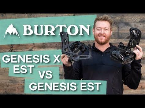 2018 burton genesis est vs genesis x est snowboard