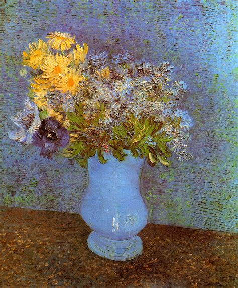Gogh Flowers In A Vase by Artists Vincent Gogh Flowers Part 2