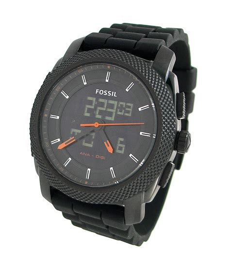 fossil fs4628 fossil analog and digital silicone