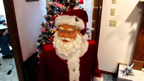 walmart singing and dancing santa claus thelope gemmy industries singing santa