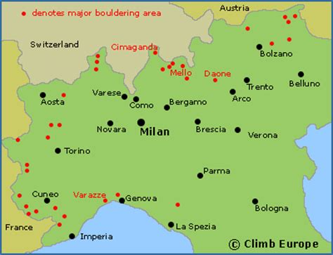 northern italy map bouldering in northern italy
