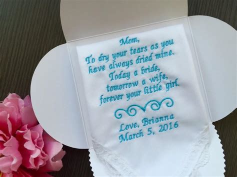 Wedding Hankie Box by Personalized Wedding Handkerchief For Of