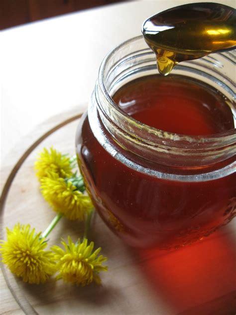 sciroppo di fiori di tarassaco gelatina di fiori di tarassaco o miele di tarassaco