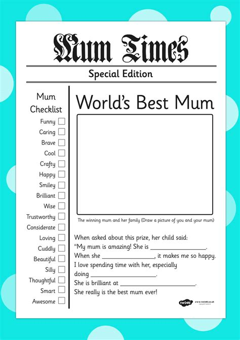card templates ks2 twinkl resources gt gt s day newspaper card template