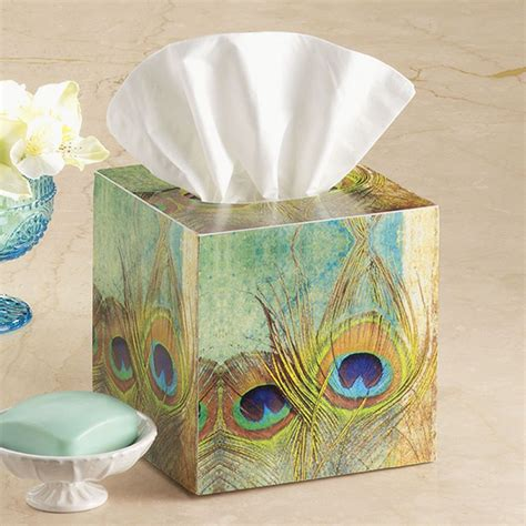 french feathers home decor and accessories peacock feather tissue box stylish home accents and