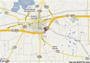 map of inn express hotel suites sulphur springs