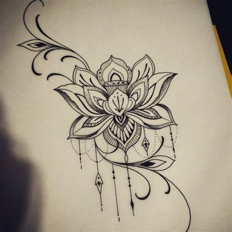 25 melhores ideias sobre tatuagens de flores na coxa no