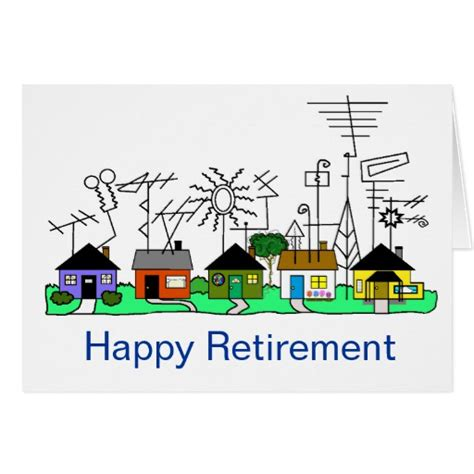 Happy Retirement Cards Templates by Happy Retirement Ham Radio Card Customise It Zazzle