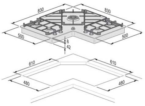 piani cottura dimensioni foster angolare 7038 052 piani cottura