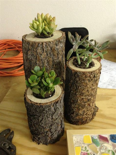 Gartendeko Baumstamm by Diy Projekte Baumstamm Deko In Form Blument 246 Pfen