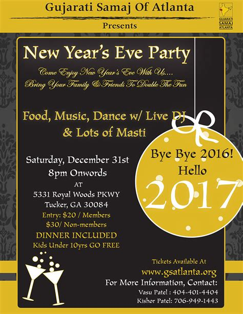 atlanta new years events gujarati samaj of atlanta new year s