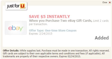 Ebay Gift Card Safeway - 10 off ebay gift cards at safeway stores more