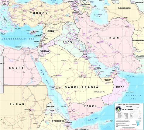map of middle east gulf