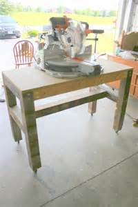 on bliss easy and cheap miter saw table tutorial