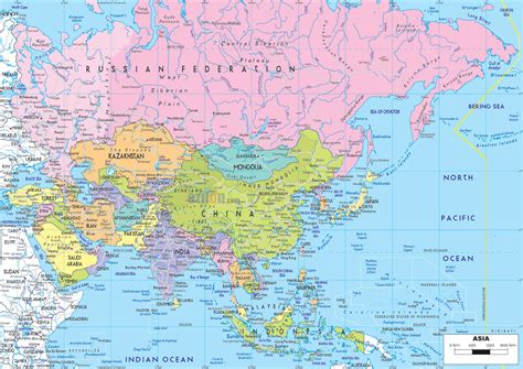 maps  asia  asia countries political maps