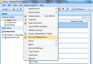 Search Exchange For Email How To Recover Deleted Items In Outlook 2007 Microsoft