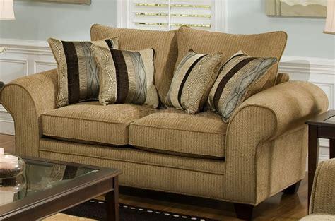 beige suede fabric modern casual sofa loveseat set w options