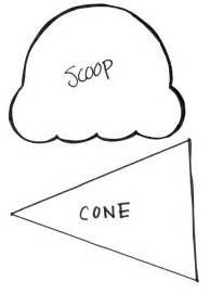 Sunflower Storytime Ice Cream Scoop And Cone Template sketch template