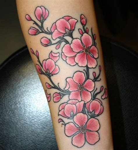sakura tattoo design cherry blossom japanese tattoos study