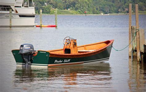 nesting dory boat peeler outboard power skiff clc peeler power skiff