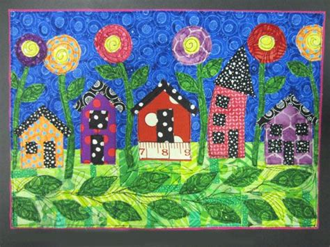 art quilt pattern learn how to make your own whimsical house quilt