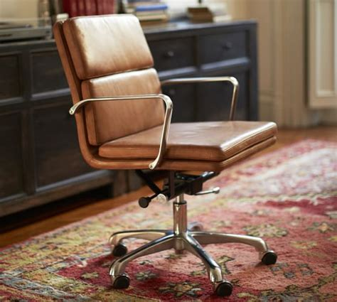 pottery barn swivel chair nash leather swivel desk chair pottery barn