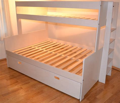 over the bed storage bunk bed twin over full with full size storage drawer