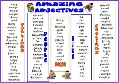 adjectives  english blog