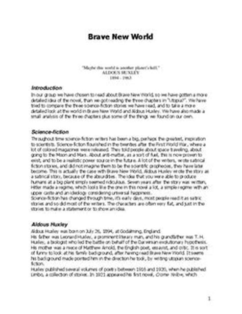 brave new world chapter 11 themes brave new world zusammenfassung schulhilfe de