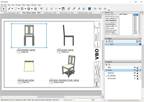 sketchup layout template edit vbo component to layout sketchup extension warehouse