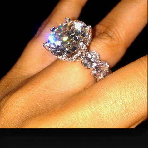 Miss Jackson's engagement ring. 20.5 carats, $2 million