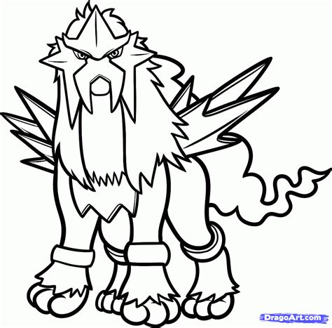 How To Draw Entei Pokemon Step By Step Pokemon Characters Anime Draw Japanese Anime Draw Drawing Pages