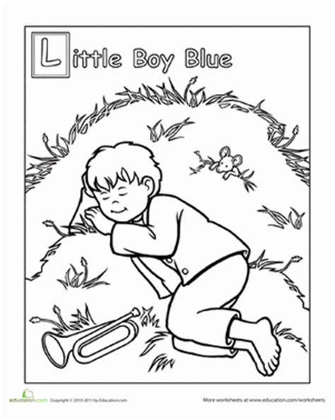 free coloring pages little boy blue little boy blue coloring page education com