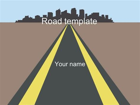 road template roads template