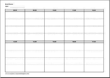 printable weekly planner landscape daily planner template printable free new calendar