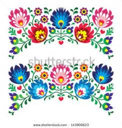 mexican flower drawing floral folk embroidery patterns for card