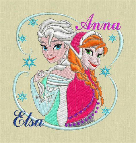 embroidery design elsa frozen frozen embroidery design elsa anna pes hus jef by violafashion