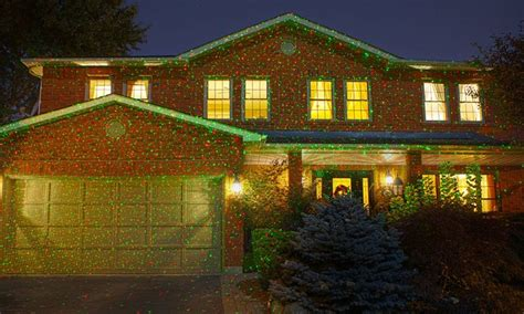 christmas lights projected on house 1 000 point led projector lights groupon