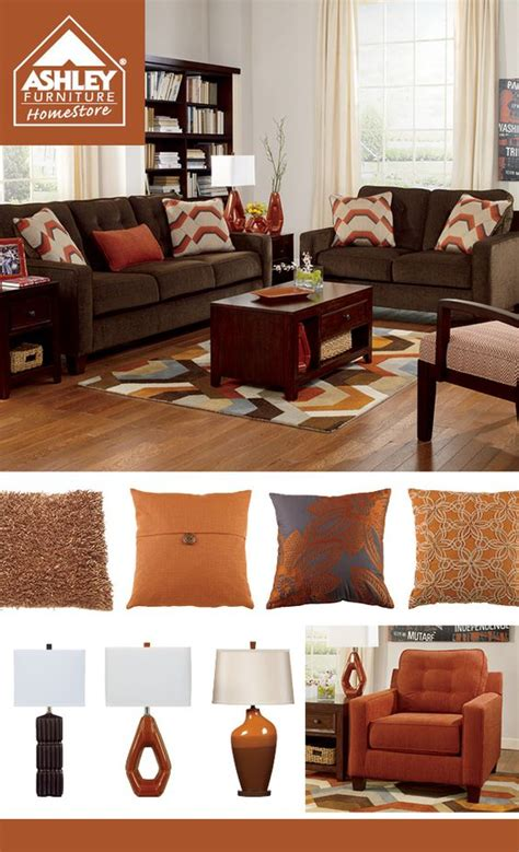 brown sofa living room ideas rustic orange chocolate brown living room