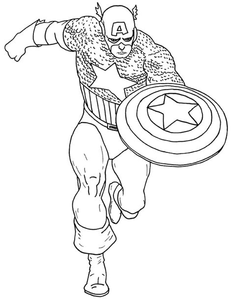 Free Coloring Pages Of Captain America Captain America Color Page