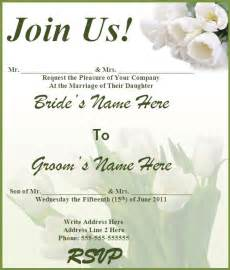 free wedding invitation templates 8 free wedding invitation templates excel pdf formats