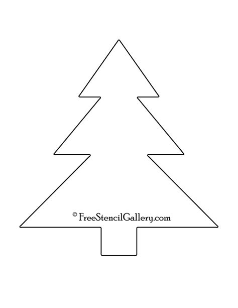 christmas tree stencils printable images