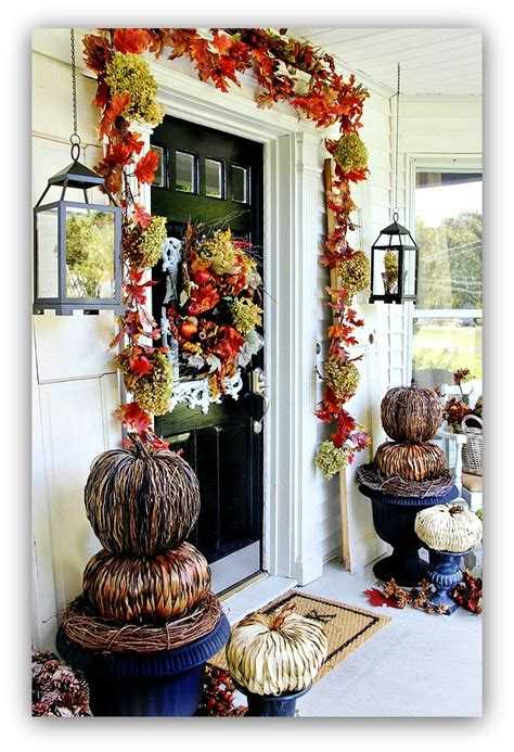 budget fall decorating ideas door ideas fall home tour