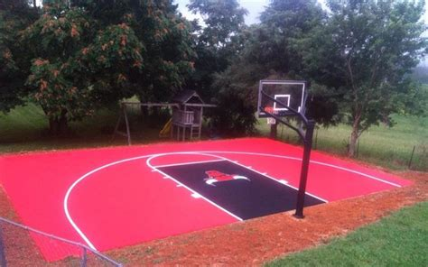backyard basketball court flooring snapsports 174 30 x46 custom backyard basketball court